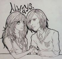 Severus x Lily by stumbleine07