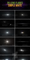 20 Lens Flares - Simple White Pack by madalincmc