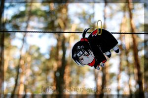 Itachi hanging paperchild by Fukari