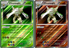 Chesnaught (Grass and Fighting) by Maskadra42