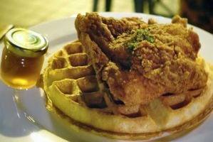 Chicken and Waffles by nosugarjustanger