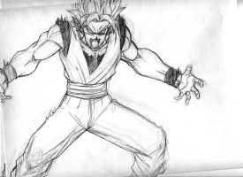 The Return of Goku sketch by mikemaluk
