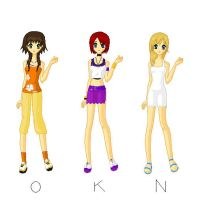 olette, kairi and namine by ILoveN