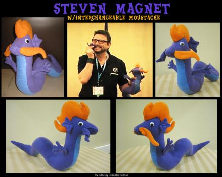 Steven Magnet Plush with interchangeable Moustache by RiftwingDesigns
