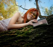book and a girl by Anti-Pati-ya