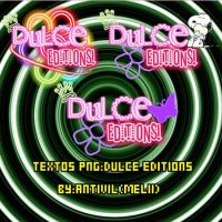 Pack Texto Png:Dulce Editions by Antivil