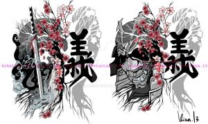 Samurai Cherry Blossom Gi- versions by kika1983