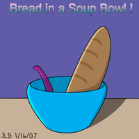 Bread in a Soup Bowl by Stareon