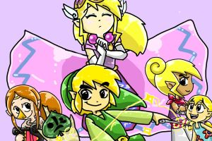 Wind Waker Groupies by LittleGreenHat