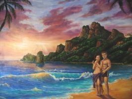 Oils sunset by Bisanti