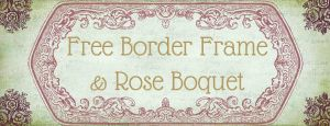 Vintage Rose and Frame Brushes by starsunflowerstudio