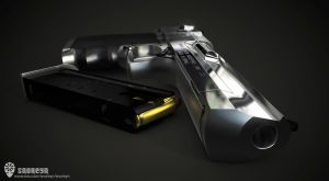 Desert Eagle 3D Render 2 by Beppe87