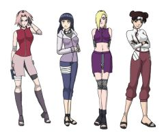Girls of Konoha by lekiscool