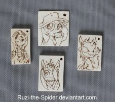 More MLP Keychains - ponyfy my life! by Ruzi-the-Spider