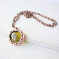 Necklace with yellow cabochon by WhiteSquaw