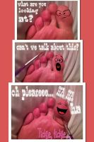 Trouble Toe by PrettyBareFootBoy