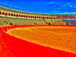 Seville Bull Fight Festival 07 by abelamario