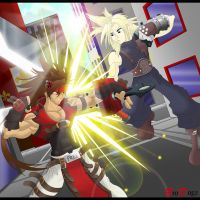 Commission: Cloud vs Sol - Klash by BroDogz
