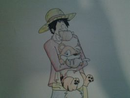 OP and PMDU: Luffy and Alexis by XfangheartX