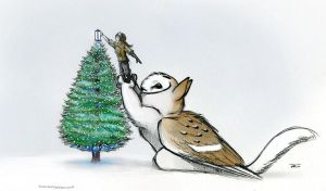 Merry Christmas Owl Griffin by RobtheDoodler
