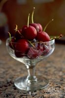 Cherries in a Glass by FotoMama