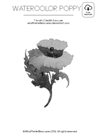 Watercolor Poppy | Brush by WhatTheHellResources