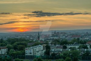 Cracow after 1 minute... by czater