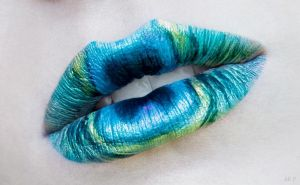 Peacock lips by AlRocksUrSocks