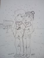 When It Snows Uncolored by KeKat147