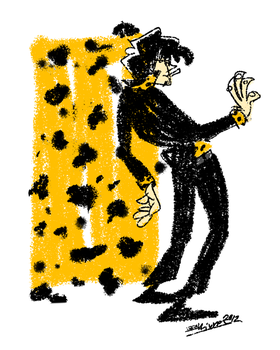That mobster guy with cheetah spots by CurvedCat