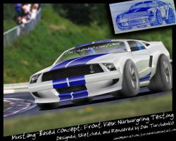 Mustang Concpet: Front View BG by Turchenko