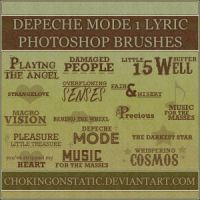 depeche mode lyric brushes 1 by chokingonstatic