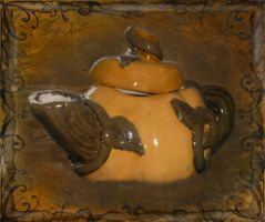Pumpkin Teapot by Charlene-Art