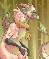 Bamboo dragon hoe by HauntedHomo