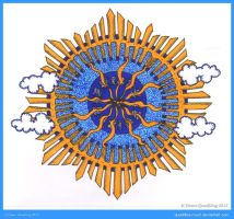 Mandala Sun Collab with simplycynarts by Quaddles-Roost