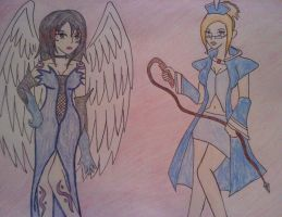 Sorceress Rinoa and Blue Mage Quistis by TheDuellist22