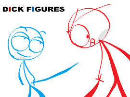 DickFigures-Blue Vs Red by Mie078