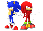 Sonic And That Knuckles Dude by DoodleyStudios