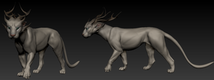 Antercat 3D Sculpt (Hairless) by Kunzai