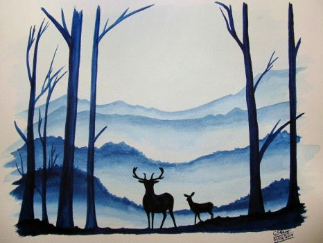 Landscape Watercolour Painting by LethalChris