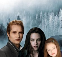 carlisle,bella and renesmee 2 by Bleach-Fairy