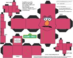 Muppets 10: Telly Monster Cube by TheFlyingDachshund