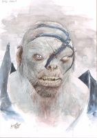 Watercolor Orc Bolg from Hobbit Movie by leonartgondim