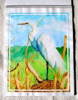 Egret by Jacia