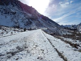 Icy Mountain Road by bowencormac