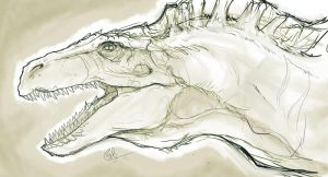 Acrocanthosaurus Sketch by lord-phillock