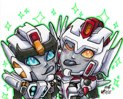 Tiny Babys Drift and Wing by SilverXenomorph