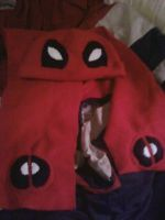 Dead pool hat and scarf set by HeatherMason76