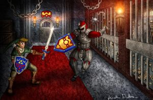 Battle In The Dungeon by JustinDeRosa