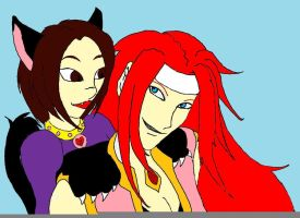 Zelos and Hoshi glomp colored by The-Knowing-Oz